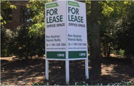 4x8 vertical v-shaped post and panel commercial real estate sign