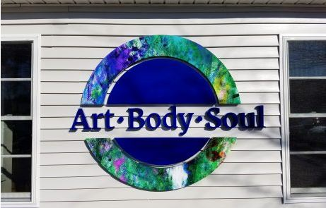Art Body Soul Custom Fabricated Metal Sign With Digital Print