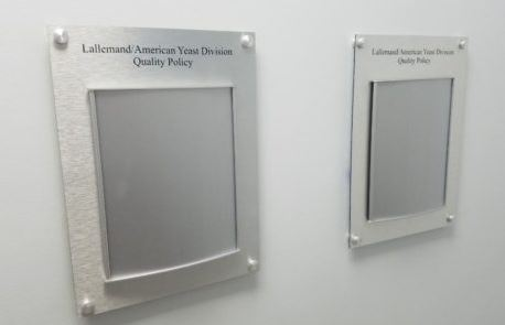 Brushed Metal Policy Holder Signs