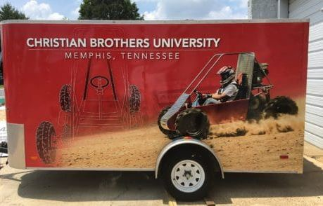 Christian Brothers Small Trailer Wrap
