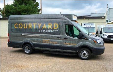 Courtyard Wrap Ford Transit Van