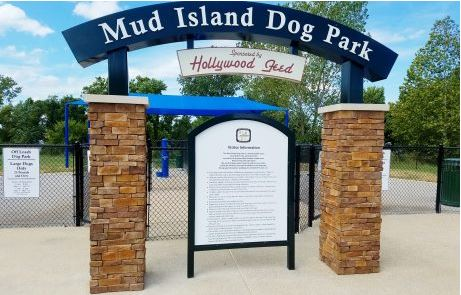 Custom Fabricated Arch Mud Island Dog Park