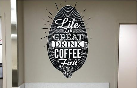 Drink Coffee Wall Decal