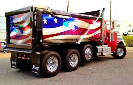 Dump Truck American Flag Wrap