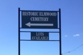 Elmwood Cemetery Pole Sign Before Revision