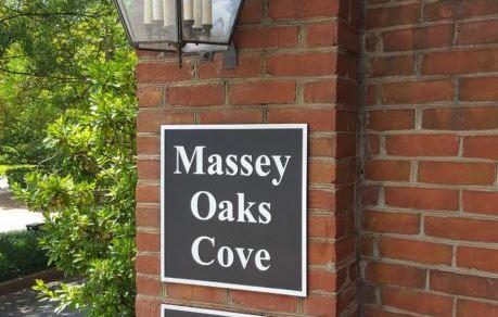 Massey Oaks Cove Exterior Engraved Plaque