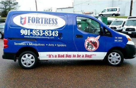 Fortress Pest Control Van Wrap