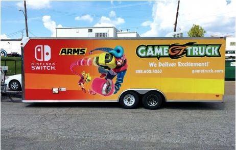 Game Truck Trailer Full Wrap