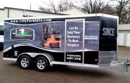 Lilly Forklifts Trailer Wrap