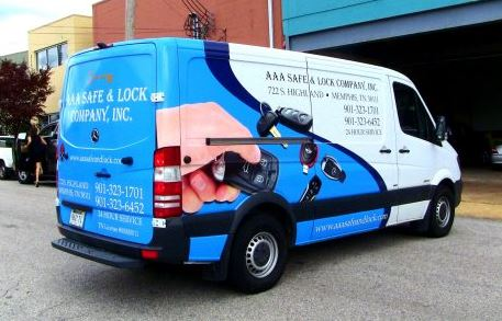 Locksmith Van Half Wrap