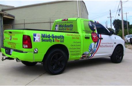 Mid-South Security Truck Half Wrap