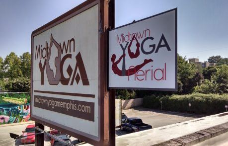 Midtown Yoga Cabinet Sign
