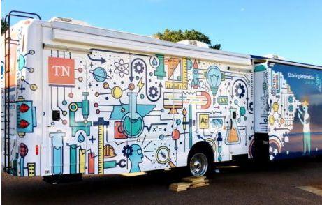 Mobile Science Lab Bus Wrap