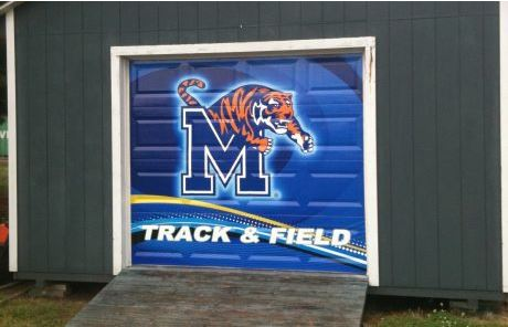 Outdoor Vinyl Decal UofM Track & Field