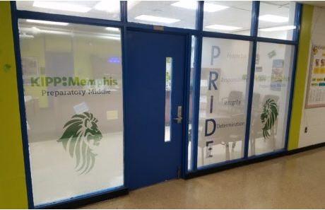 Perforated Vinyl For Glass Office KIPP