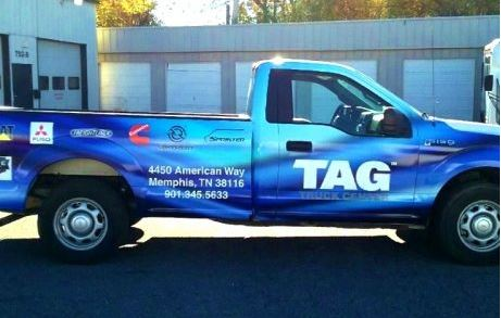 TAG Pickup Truck Wrap