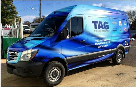 TAG Truck Sprinter Blue Wrap
