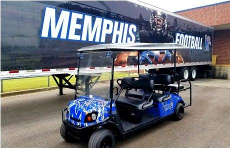 UofM Golf Cart Wrap