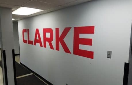 Vinyl Wall Decal Clarke Logo