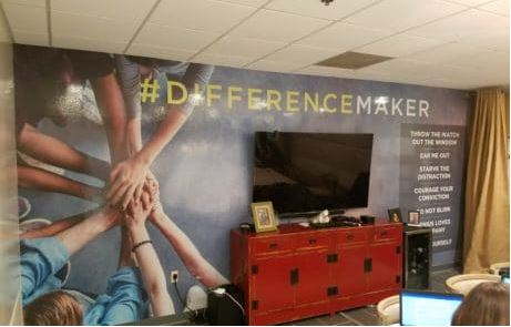 Vinyl Wall Wrap In Corporate Conference Room