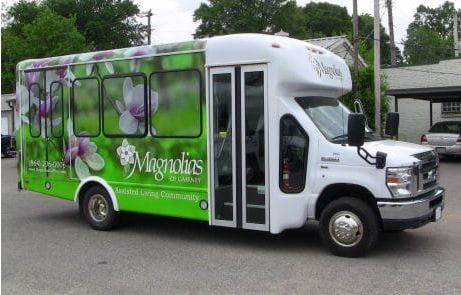 Wrap On Ford Bus Magnolias