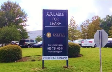 commercial real estate 4x8 vertical post and panel sign