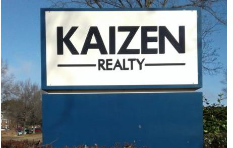 kaizen realty monument reface with 3d acrylic letters