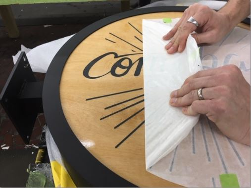 How To Install Vinyl Decals Remove Masking Tape