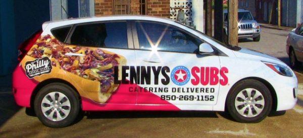 Lennys Subs Catering Car Half Wrap