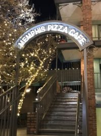 Memphis Pizza Cafe Custom Fabricated Metal Archway With LED Lighting