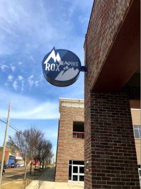 Memphis Rox Solar Powered LED Blade Sign