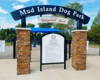 Mud Island Dog Park Custom Metal Arch Sign With 3D Letters