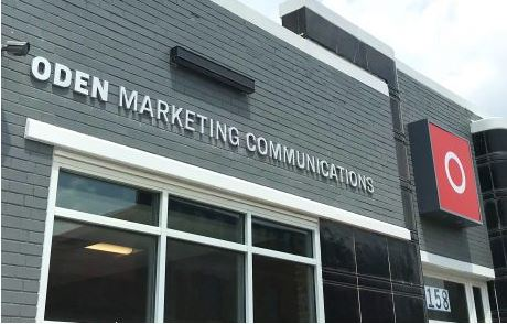 Oden Marketing Lighted Cabinet Sign and Cast Metal Letters