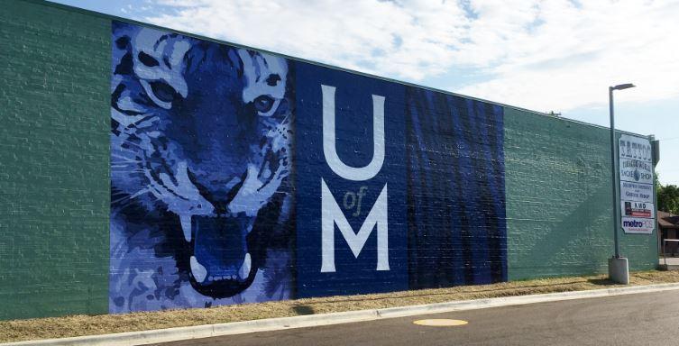 University of Memphis Tigers Vinyl Wall Wrap Highland Strip