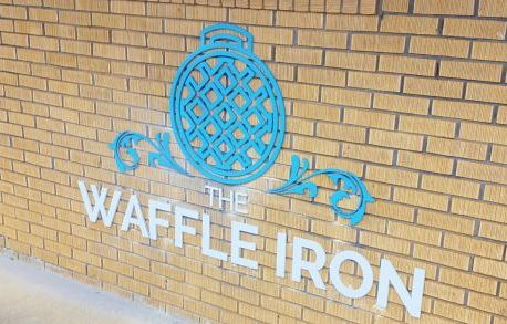 Waffle Iron Flat Cut Painted Metal Letters