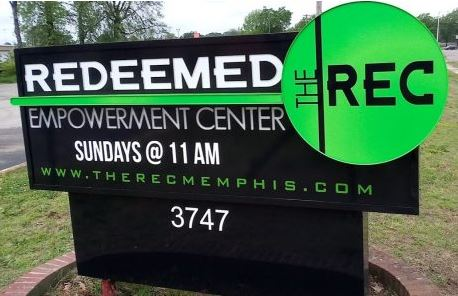 Redeemed Empowerment Center Lighted Monument Sign