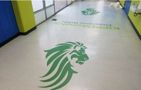 KIPP Middle School Floor Decals