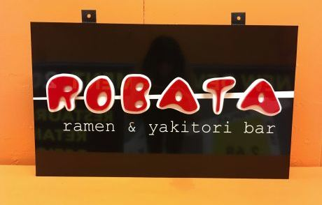 Robata Hanging Sign With Flat Cut Acrylic Layered Elements