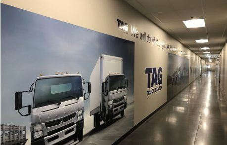 TAG Truck Center Large Wall Wrap Vinyl Mural