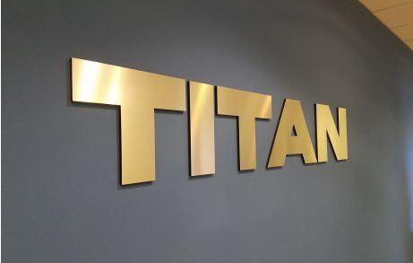 Titan Brushed Gold Laminated Acrylic 3D Letters