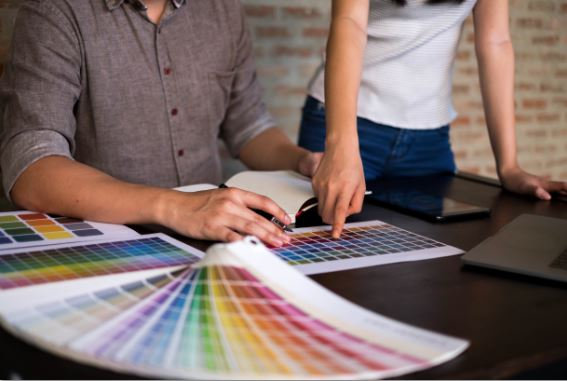 graphic design color swatches