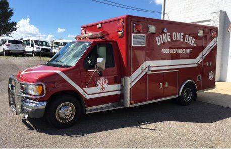 Converted Ambulace Food Truck Decals