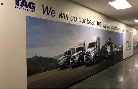 TAG Truck Center Vinyl Wall Wrap