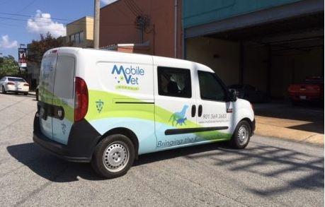 Mobile Vet Half Wrap On Promaster City Van
