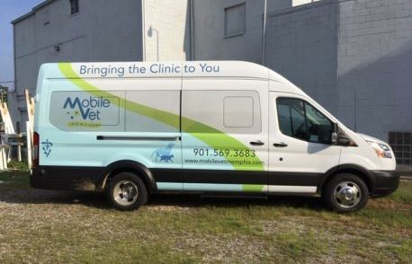 Mobile Vet Half Wrap On Transit Jumbo Conversion Van