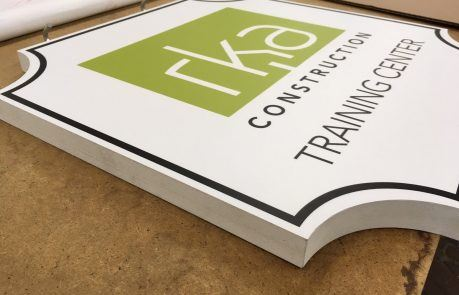 RKA Construction 1-Inch Thick Routed Sintra Sign