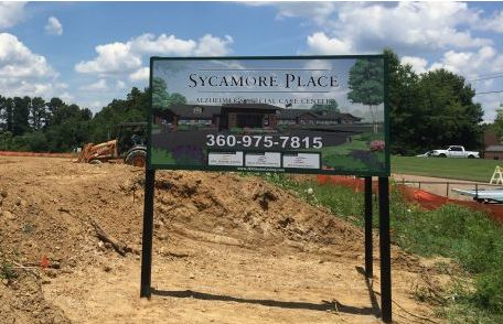 Sycamore Place Construction Site V-Shape Sign
