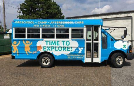 YMCA School Bus Wrap