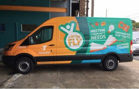 YMCA Y on the Fly Transit Van Wrap