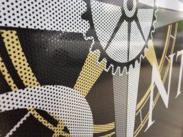 perforated vinyl close up